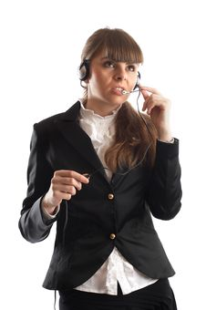 Free Beautiful Customer Representative Royalty Free Stock Photography - 2048487