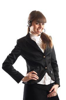 Free Beautiful Customer Representative Royalty Free Stock Photo - 2048495