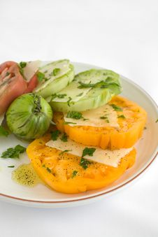 Sliced Heirloom Tomato Salad Royalty Free Stock Photography
