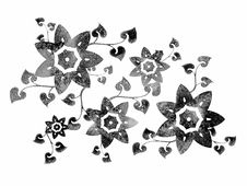 Free Isolated Flower Stencil Design Stock Images - 2049564