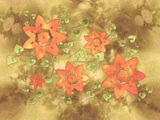 Free Flower Vine Collage Texture Royalty Free Stock Photo - 2049585