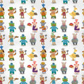 Free Cartoon Animal Chef Seamless Pattern Royalty Free Stock Photos - 20403128