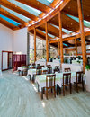 Free Tables And Chairs In A Restaurant Cafe Hall. Stock Image - 20409671