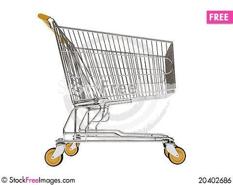 Free Shopping Carts Isolated Royalty Free Stock Image - 20402686