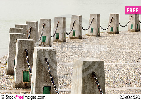 Free Chains And Cement Posts Stock Photo - 20404520