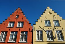 Free Typical Roofs Of Houses In Bruges Stock Images - 20400434