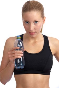 Free Caucasian Woman With Sport-bra Drinking Water Stock Photo - 20400640