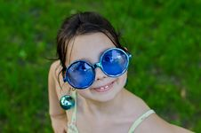 Free Little Girl In Funny Glasses Royalty Free Stock Image - 20401336