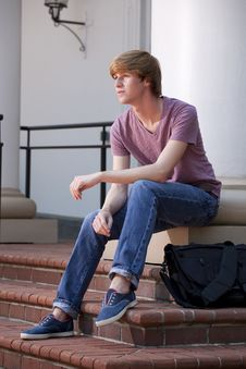 Young Male Student Royalty Free Stock Photos