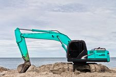 Free Blue Excavators Are Working. Royalty Free Stock Image - 20401906