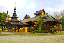 Free Wooden Temple,Wat Jom Swan,Phrae Stock Image - 20402211