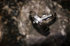 Free Wedding Rings On A Rocky Background Stock Image - 20403141