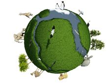 Globe With Animals Royalty Free Stock Image