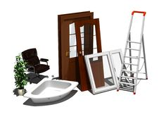 Free Repair Of Apartments. Stock Photography - 20403172