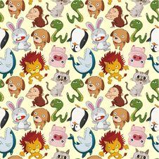 Free Cartoon Animal Seamless Pattern Royalty Free Stock Photos - 20403178