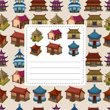 Free Cartoon Chinese House Seamless Pattern Royalty Free Stock Photo - 20403185