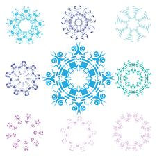 Free Snowflakes Set Stock Photo - 20404430
