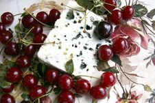 Free Cherry And Roquefort Cheese Stock Image - 20404561