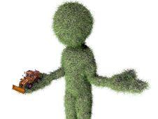 Free Grass Man With Buldozer Toy Stock Photo - 20405590