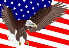 Free U.S. Flag And Eagle Stock Photo - 20405960