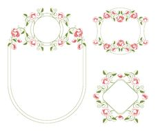 Free Floral Ornaments Vignette And Frames Royalty Free Stock Photos - 20406108