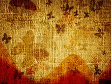 Background With Butterflies Stock Image