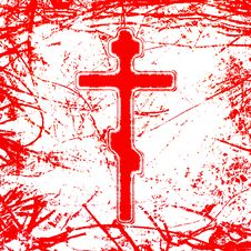 Free Bloody Cross Stock Photography - 20406182