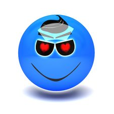 Free Blue Smiley In Love Royalty Free Stock Photo - 20406395