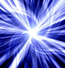 Blue Twisted Blast Stock Images