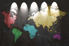 Free Colored World Map Stock Images - 20406714
