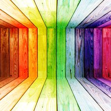 Free Colorful Spectral Wooden Room Stock Photo - 20406800