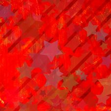 Grunge Colorful Stars Royalty Free Stock Photography