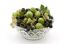 Free A Glass Dish Full Of Gooseberies And Currants Stock Image - 20406911