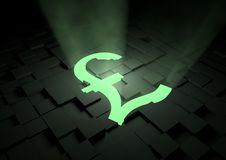 Glowing Pound Symbol Stock Images
