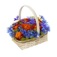 Free Bouquet Of Flowers In A Basket Royalty Free Stock Image - 20407556
