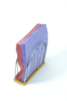 Pink And Blue  Napkins Royalty Free Stock Photography