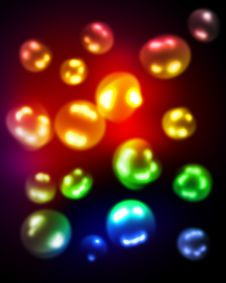 Free Blurred Colored Bubbles Stock Photos - 20408113
