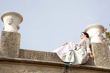 Free Woman In A Magnificent Dress Royalty Free Stock Photos - 20408208