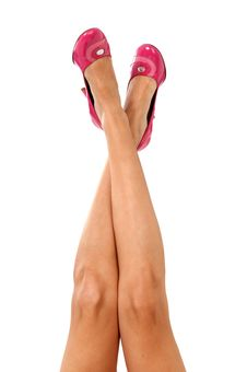 Free Beautiful Legs With Pink Shoes Stock Photo - 20408440