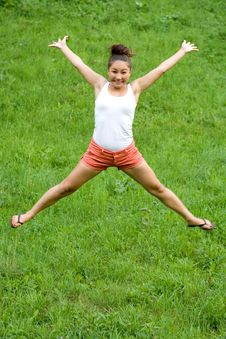 Free Girl Doing Exercises Stock Images - 20408834