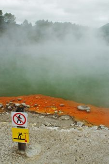Volcanic Pool In New Zealand Royalty Free Stock Images
