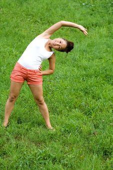 Free Girl Doing Exercises Royalty Free Stock Image - 20408926