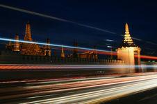 Buddhist Temple In Bangkok At Dawn Stock Photos
