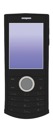 Free Vector Black Mobile Phone Stock Photography - 20409582