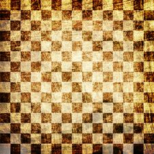 Grunge Scratched Chessboard Royalty Free Stock Images