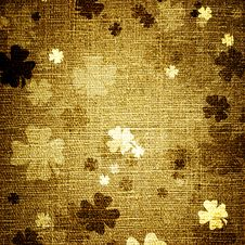Free Grunge Trefoils On Canvas Royalty Free Stock Photo - 20409775