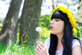 Free Young Woman With Dandelion Royalty Free Stock Photography - 20414237