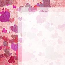 Letter Form With Hearts Royalty Free Stock Photography