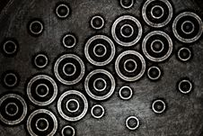 Free Modern Dark Circles Background Stock Images - 20410284