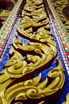 Golden Thai Art Stock Photos